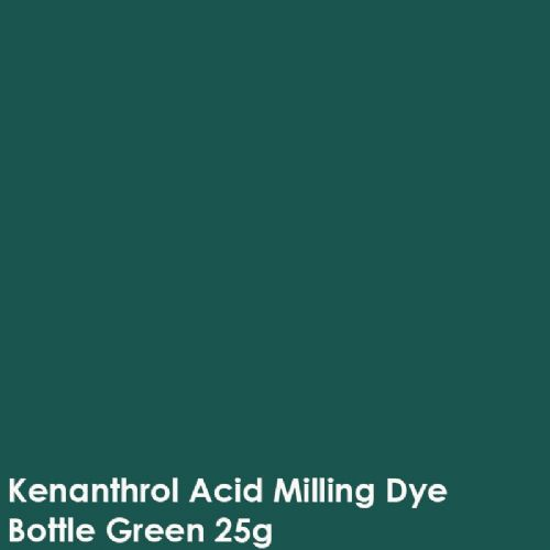 Bottle Green kenanthrol acid milling dye shade 25g